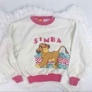 VTG Simba & Nala Lion King Crewneck Girls 7/8
